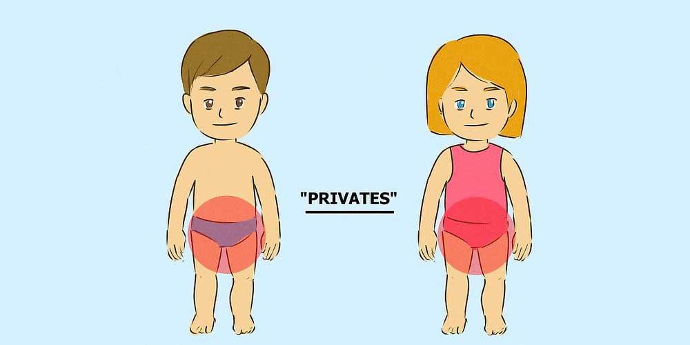 به آنها آموزش دهید که برخی از اعضای بدنشان خصوصی هستند