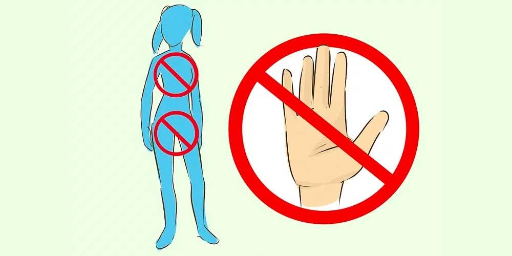 به کودکانتان بگویید که لمس شدن بدنشان ممکن است حس خوبی بدهد