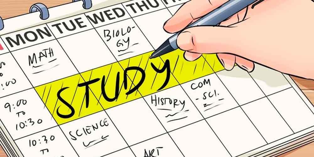 چگونه ساعات مطالعاتی را باید تنظیم کرد؟