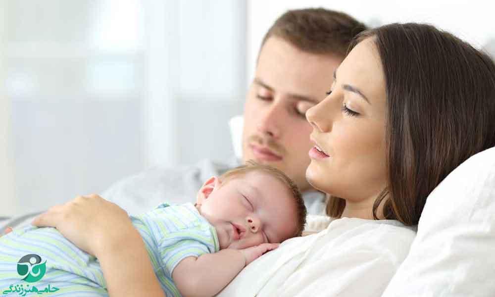 خوابیدن نوزاد کنار والدین و نکاتی که باید به آن توجه کنید