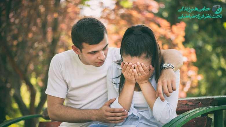 دلداری دادن به همسر   واکنش مردان به احساس غم و راهکار هایی برای دلداری دادن